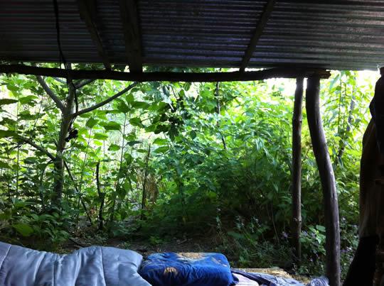 Unser Outdoor-Schlafplatz