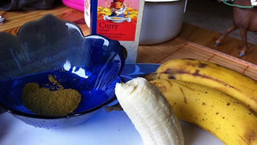 Eine interessante Kombination: Banane mit Curry