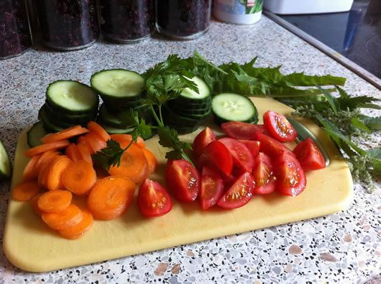 Mittagessensvorbereitung