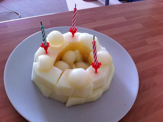 Schnelle Zuckermelonen-Torte