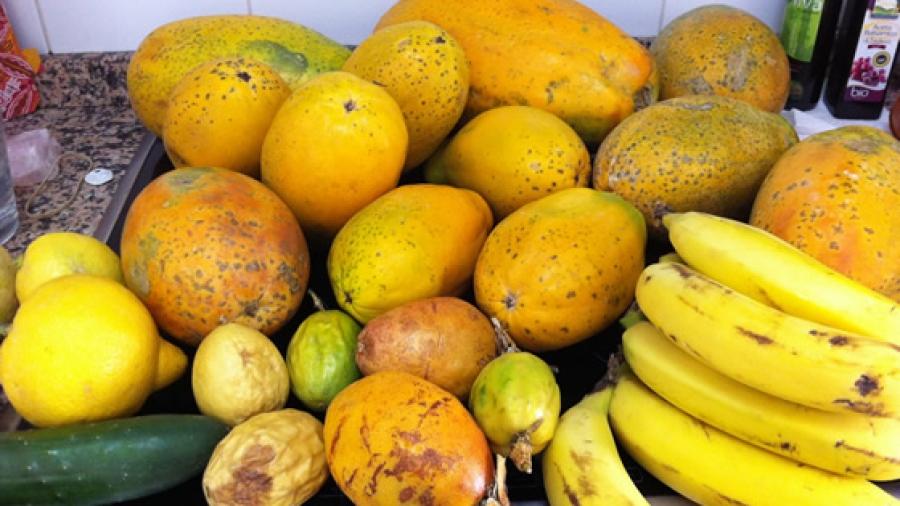 Papayas, Bananen, Maracujas, Zitronen, Gurken