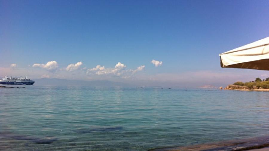 Traumhaft ... das Meer. So ruhig hier, ganz anders als der Atlantik, der mich sonst umgibt.