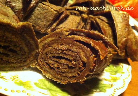 Rohe, zuckerfreie Schoko-Croissant