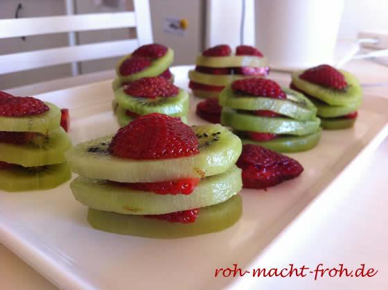 Kiwi und Erdbeeren ... mehr nicht