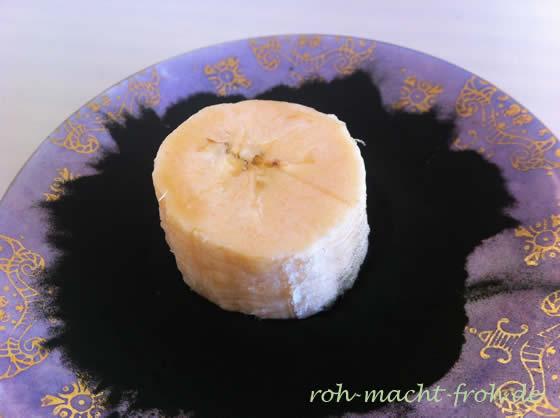 (Gemüse-)Banane mit Chlorella-Pulver