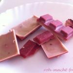 Erdbeerschokolade - ganz einfach!