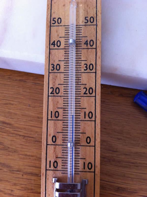 Gemütliche 12°C in meinem Schlafzimmer :)
