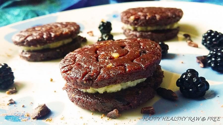 roh vegane kekse - rawreos