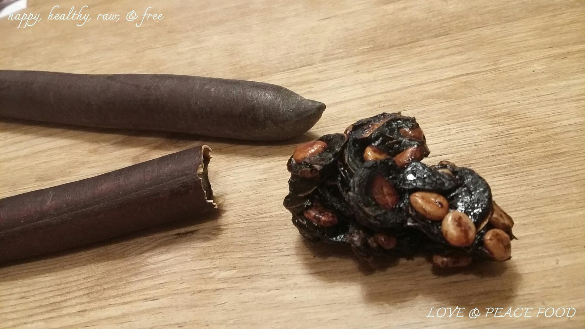 Cassia Fistula Stangen und ausgelöste Plättchen