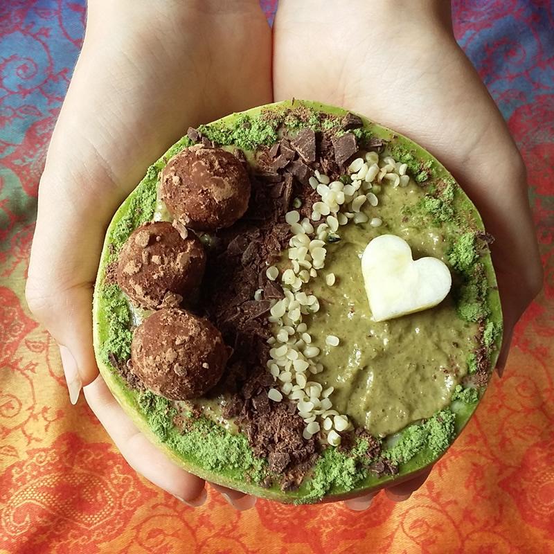 Protein-Schoko-Bowl Keto Roh Vegan