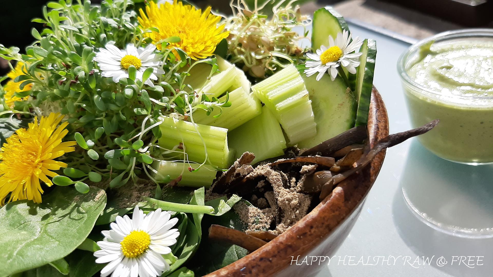 Lebendige Nahrung: Grüne Bowl